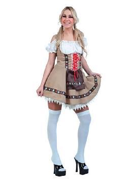 disfraz de tirolesa adulto mujer. Este atrevido traje de Tirolesa Montañera te convertirá en una sexy escaladora de los montes de Tirol. Pásalo en grande en Carnaval, Despedidas, Fiestas del Oktoberfest.Este disfraz es ideal para tus fiestas temáticas de disfraces del mundo por países y regionales