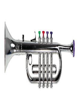 trompeta de plastico botones colores surtido 38 cm