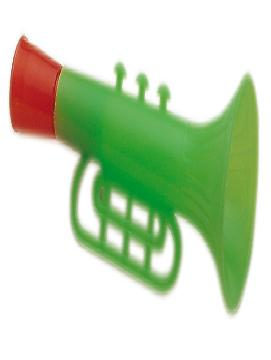 25 trompetas plastico verdes para carrozas