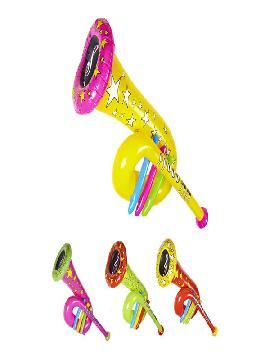 trompeta de payaso hinchable con silbato