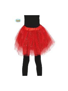 tutu rojo infantil 30 cms
