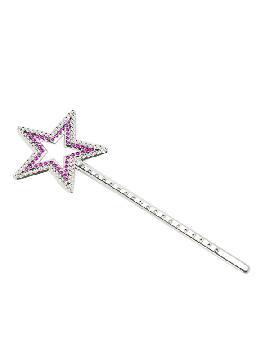 varita estrella plateada y rosa