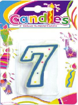 vela de puntos de colores con el numero 7