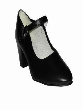 zapatos de flamenca negros niña talla 25