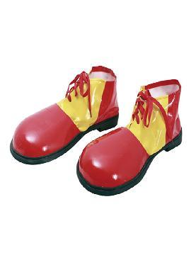 zapatos grandes de payaso rojos de 58 cm