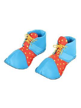 zapatos payaso azules y rojos 36 cms